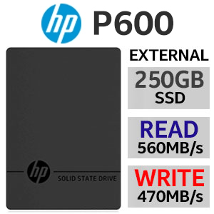 HP P600 250GB Type-C External SSD
