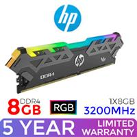 HP V8 8GB 3200MHz RGB DDR4 Desktop Memory