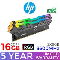HP V8 16GB 3600MHz RGB DDR4 Desktop Memory Kit