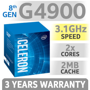 Intel Celeron G4900 Dual Core Desktop Processor