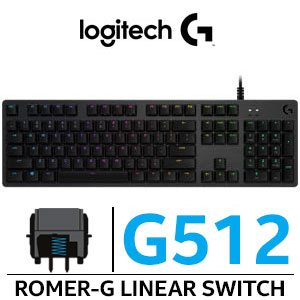 Logitech G512 RGB Mechanical Carbon Gaming Keyboard