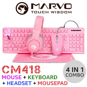 MARVO CM418 4 IN 1 Advanced Gaming Combo
