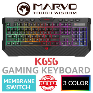 MARVO K656 Gaming Keyboard - Membrane Switch