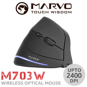 MARVO M703W Vertical Wireless Gaming Mouse