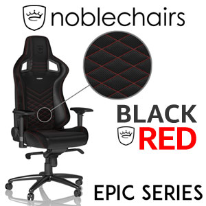 noblechairs EPIC Series Gaming Chair - Black/Red