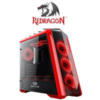 Redragon JETFIRE Gaming Case - Red/Black