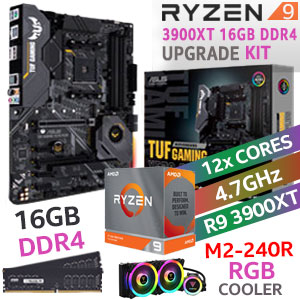 RYZEN 9 3900XT TUF Gaming X570-Plus 16GB 2666Mhz Upgrade Kit
