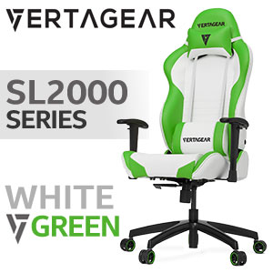 Vertagear SL2000 Gaming Chair White / Green
