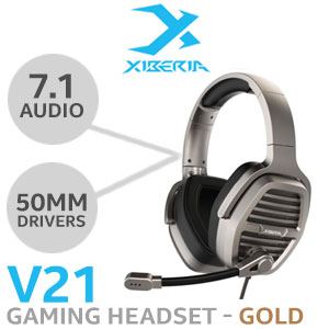 Xiberia V21 7.1 Gaming Headset - Gold