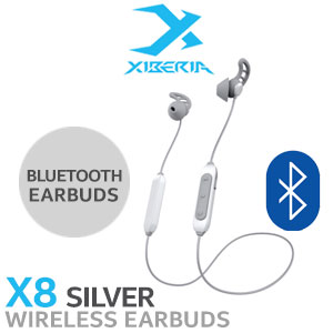 Xiberia X8 Wireless Sleeping Bluetooth Earphone - Silver
