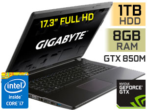 "Gigabyte P17F 17.3"" Core i7 Gaming Laptop"