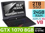 AORUS X5 V8 Core i7 Laptop With 2TB SSD & 24GB RAM