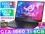 ASUS GA502DU Ryzen 7 GTX 1660 Ti Gaming Laptop With 40GB RAM