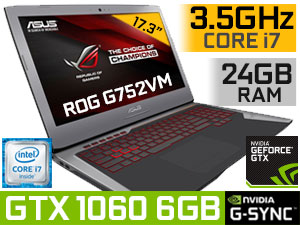 ASUS ROG G752VM GTX 1060 Laptop With 24GB RAM