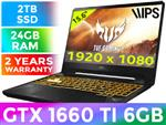 ASUS TUF Gaming FX505DU GTX 1660 Ti Laptop With 2TB SSD And 24GB RAM