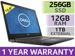 "DELL Inspiron 3567 15.6"" Core i5 Laptop With 256GB SSD And 12GB RAM"