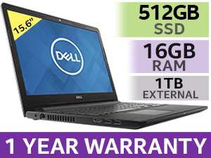 "DELL Inspiron 3567 15.6"" Core i5 Laptop With 512GB SSD And 16GB RAM"