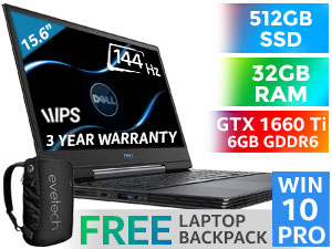 Dell Inspiron G5 15 GTX 1660 Ti Laptop With 512GB SSD And 32GB RAM