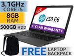 "HP 250 G6 15.6"" 7th Gen Core i5 Laptop Deal With 8GB RAM"