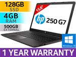 "HP 250 G7 15.6"" Intel Dual Core Laptop With 128GB SSD"