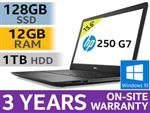 "HP 250 G7 15.6"" 8th Gen Core i5 Laptop With 128GB SSD & 12GB RAM"