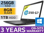 "HP 250 G7 15.6"" 8th Gen Core i5 Laptop With 256GB SSD & 8GB RAM"