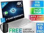 HP ENVY 15 RTX 2060 4K Touchscreen Laptop With 24GB RAM