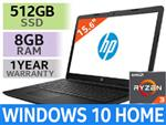 "HP Notebook 15 15.6"" AMD Ryzen 3 Laptop With 512GB SSD And 8GB RAM"