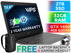 HP Pavilion 15 Core i5 GTX 1650 Laptop With 2TB SSD And 32GB RAM