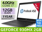 "HP ProBook 450 G5 15.6"" Core i7 Laptop With 12GB RAM"