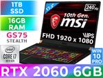 MSI GS75 Stealth 10SE Core i7 RTX 2060 Gaming Laptop
