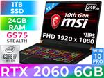 MSI GS75 Stealth 10SE RTX 2060 Gaming Laptop With 24GB RAM