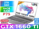 MSI P75 Creator 9SD GTX 1660 Ti Laptop With 2TB SSD And 64GB RAM
