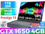 MSI Prestige 15 A10SC Core i7 Laptop