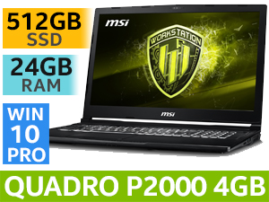 MSI WE63 8SJ 8th Gen Laptop With 512GB SSD & 24GB RAM