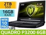 MSI WT75 9SK 9th Gen Core i7 Workstation 4K Laptop With 2TB SDD