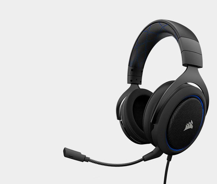 Corsair HS50 Stereo Gaming Headset - Blue